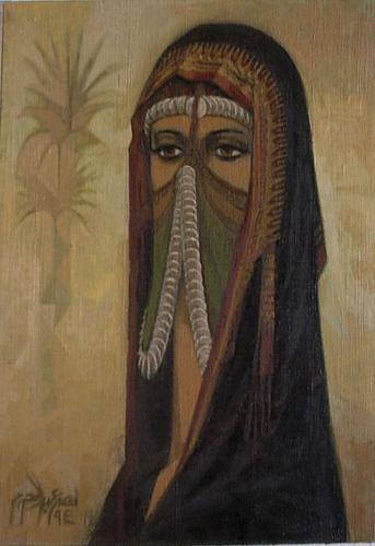 A Masked Bedouin Woman